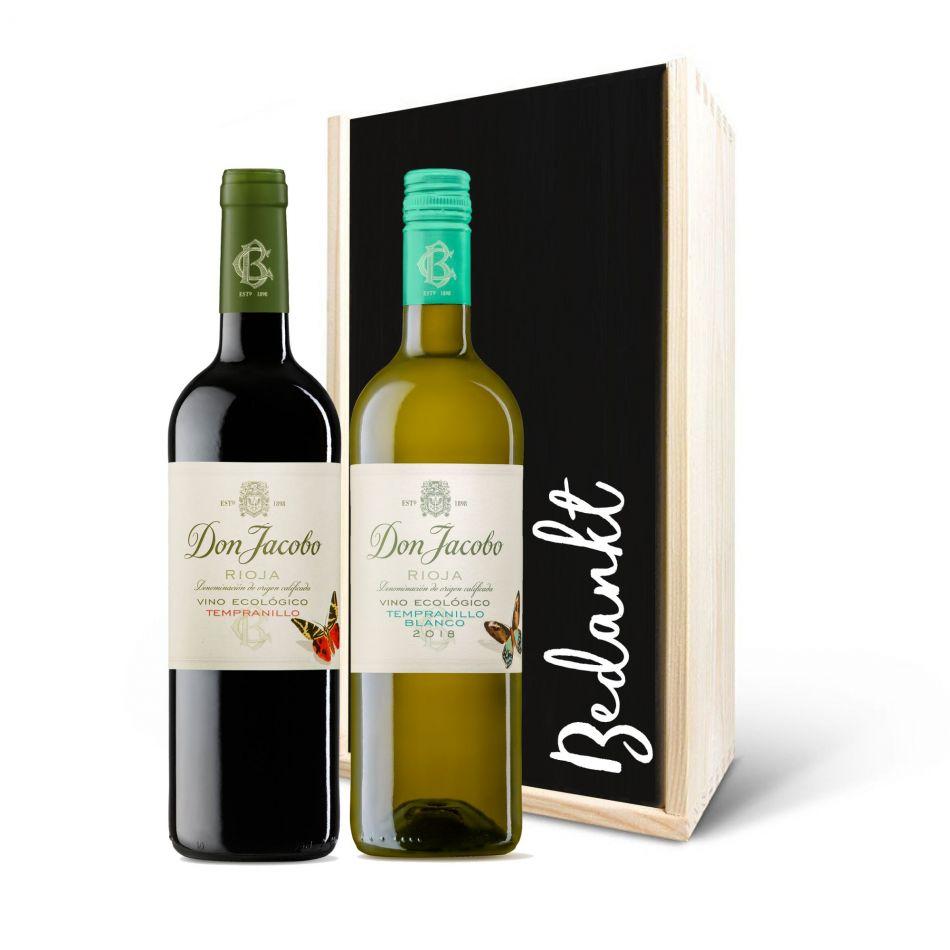 Wijnpakket Don Jacobo Ecologico Rood/Wit, 2 fles - BIO